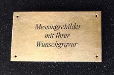 MESSINGSCHILD Türschild - rechteckig 180x100mm - mit Wunschgravur