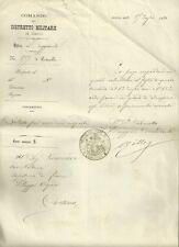 Comunicazioni al Capitano Riserva del Comando del Distretto Militare Arezzo 1880