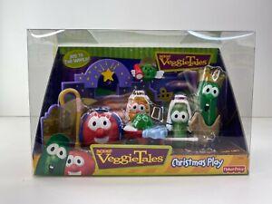 NEW  2000 Fisher Price Veggie Tales Christmas Play Set Nativity Super Rare