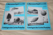 (195A) Catalogue des cartes postales 2 tomes L'aéronautique Simon-Lemaire 1985