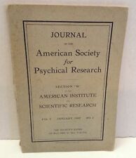Journal of American Society of Psychical Research 1907 RARE Antique Booklet