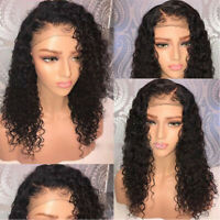 Fashion Curly Wigs Long Loose Wave Hair for Women Black Lace Front Synthetic Wig