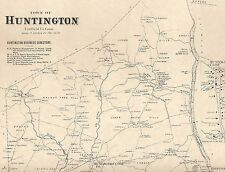 Shelton Huntington Farmill Housatonic CT 1867  Map with Homeowners Names Shown