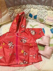 Brand New Raincoat (not Baby Born)And Baby Born Boots For Large Baby Born