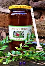100% PURE RAW ORGANIC HONEY 1kg Linden Lime + Free Honey dipper  ( miod lipowy)