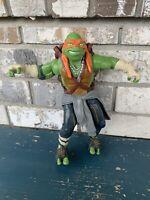 2014 Paramount Pictures Playmates Michelangelo Action Figure TMNT Movie Ninja...