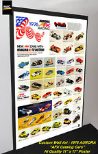 "Custom AFX Wall Art - AURORA ""The AFX 1976 Catalog Cars""  11W x 17T Hi QA POSTER"