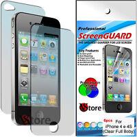 6 Pellicola Per iPhone 4S 4 4G Proteggi Display 3 Fronte 3 Retro Confezione