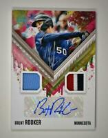 2021 Diamond Kings Material Signatures Auto Holo Blue #DKMS-BR Brent Rooker /25