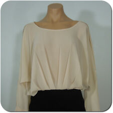 FOREVER 21 Dress, Dolman Champagne Top with Long Split Sleeves, size S