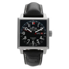 Fortis 652.10.148 for Swiss Air Lines UTC Square Leather Automatic Men's Watch