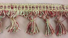 "6 1/3 yards of CONSO 2 1/2"" Tassel Fringe leftover trim drapery upholstery craft"