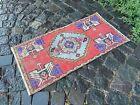 Vintage from 1950s, %100 wool handmade Turkish vintage rug   1,5 x 3,0 ft