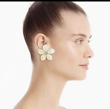 Detail! Sold Out! New$39.50 Natural J.Crew Acetate Flower Earrings With PavÉ