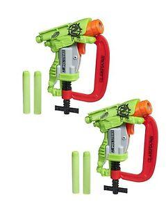 Brand New NERF Zombie Strike CLAMPDOWN Dart Blaster CLAMP DOWN 2 Pack