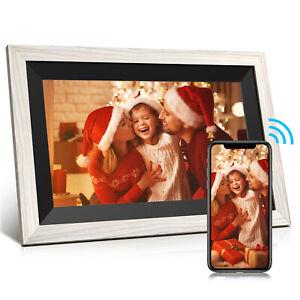 """10.1"""" Touchscreen IPS Fotorahmen WiFi Digital Bilderrahmen Automatisch drehen DE"""