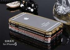 Luxury Crystal Rhinestone Diamond Bling Metal Case Cover Bumper For iPhone SE 5S