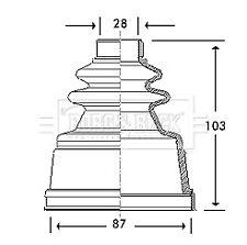 Borg & Beck Driveshaft Bellow CV Joint Boot Kit BCB2775 - 5 YEAR WARRANTY