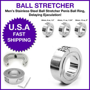 Stainless Steel Heavy Smooth Cock Ring Metal Penis Ring Scrotum Cage Enhance Men