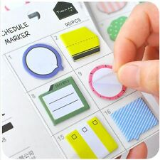 Creative Sticky Memo Pad Mini Note Bookmark Stationery Sticker Kids Gift