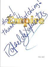Rafael de La Fuente Signed Autographed EMPIRE Pilot Episode Script COA VD