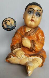 POUPEE ENFANT JAPONAIS ART DECO 1930 / 40'S EN CERAMIQUE / VINTAGE CERAMIC DOLL