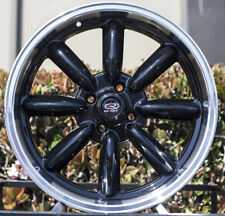 15x7 Rota RB 4x100 +30 Royal Black Rims New Set