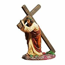 MyLifeUNIT Jesus Carrying Cross Religious Statue Figurine Christian Gift 4.7 ...
