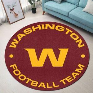 Washington Redskins Area Rug Round Rug Football Floor Mat Non-slip Door Mat Gift