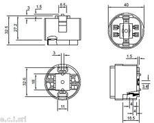9406/Q1 PORTALAMPADE PER LAMPADE FLUORESCENTI G24 ATTACCO G24Q1 GX24Q1