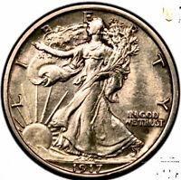 1917-D OBVERSE - Silver Walking Liberty Half Dollar-Uncirculated