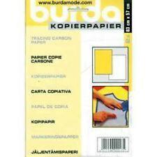 BURDA tracing Paper-CARBONIO 2 GRANDI FOGLI GIALLO & WHITE