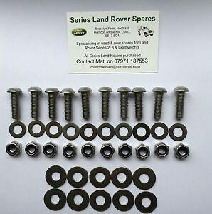 Land Rover Series 2 & 3 Stainless Steel Allen Key Rear Cross Member Bolt Kit