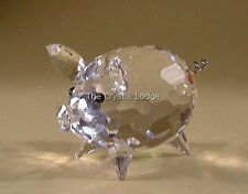 SWAROVSKI CRYSTAL PIG MEDIUM SIZE WITH WIRE TAIL 010031 MINT BOXED RETIRED RARE
