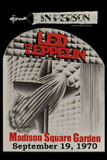 Led Zeppelin at the  Madison Square Garden in New York Concert Poster 1970