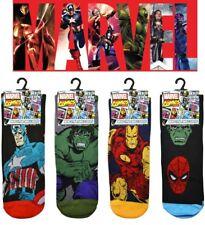 4 Pairs Mens Comic Book Superhero Marvel Socks Avengers Designs UK Size 6-11
