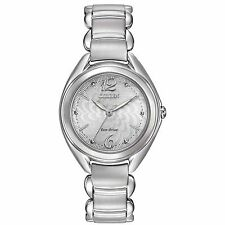 Citizen Eco-Drive Women's FE2070-84A Crystals Floral Motif Dial 31mm Watch