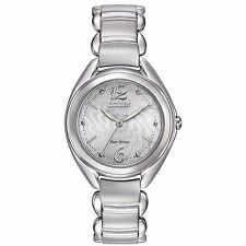 Citizen Eco-Drive Women's FE2070-84A Crystal Accents Floral Motif Dial Watch