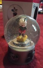 """Disney Musical Waterball Snowglobe Mickey Plays """"Mickey Mouse Club"""""""
