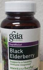 Gaia Herbs Black Elderberry RapidRelief Immune System Support - 30 Capsules