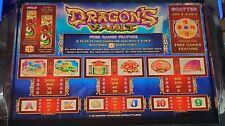 "Aristocrat MK7 Software "" Dragons Vault"" Viridian Widescreen"