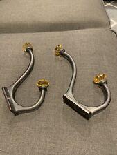 Restoration Hardware Rubbed Bronze & Glass Bath/Coat Hooks