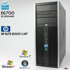 Hp Compaq Elite 8000 Tower Computer Pc Windows XP 7 Dual Core E6700 Rs 232 4gb