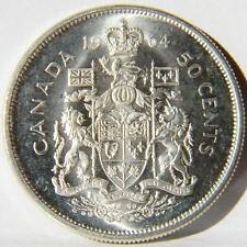 CANADA, Elizabeth II: 1964 silver 50 Cents-last year of issue; UNC w orig luster