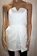 SUPRE Brand White 'Cameron' Strapless w Side Pockets Dress Size 10 BNWT #TN82