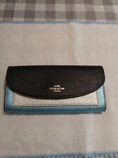 Coach Midnight Metallic Color Block Slim Envelope Wallet