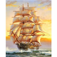 Full Drill Diamond Painting Kit Like Cross Stitch Sea Sailing Ship DIY ZY104B
