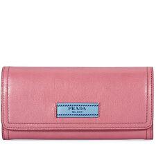 Prada Prada Continental Wallet - Lotus Pink/Astral Blue