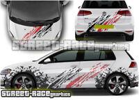 VW Volkswagen Golf rally 001 GTi racing mud splatter stickers graphics decals