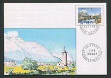 SCHWEIZ MK 1977 EUROPA CEPT 1977 MAXIMUMKARTE CARTE MAXIMUM CARD MC CM d3470